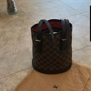 Retired LV Check Bucket Bag
